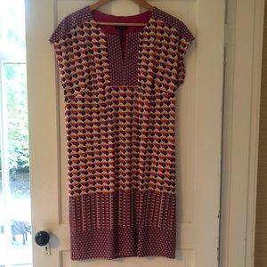 Laundry Multi-Colored Geometric Print Shift Dress